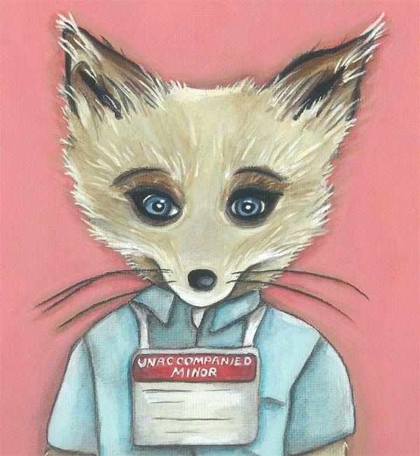 Fantastic Mr Fox Kristofferson 5x7 Print 10 00 Via Etsy Would Love This Set So Much Fantastic Mr Fox Fantastic Fox Original Canvas