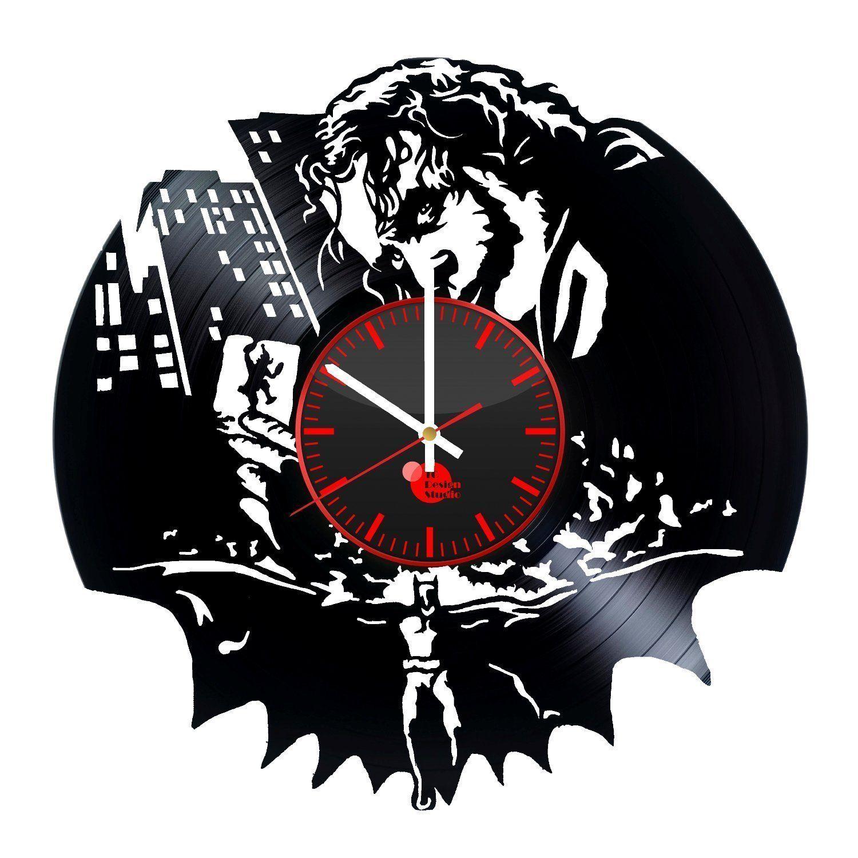 Joker / Batman Wanduhr - hergestellt aus einer Schallplatte ...