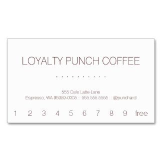 Punch Business Cards And Business Card Templates Zazzle - Loyalty punch card template