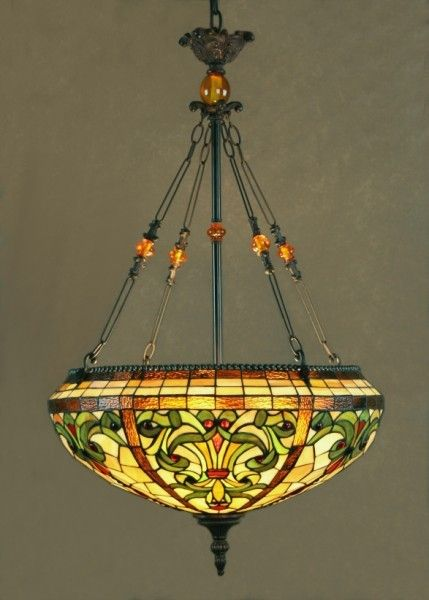 Antiques Road Show Tiffany Style Stained Glass Pendant  Chandelier By Dale  Tiffany TOPAZ BAROQUE SERIES NEW in Box Item Number cd0c3cb37744