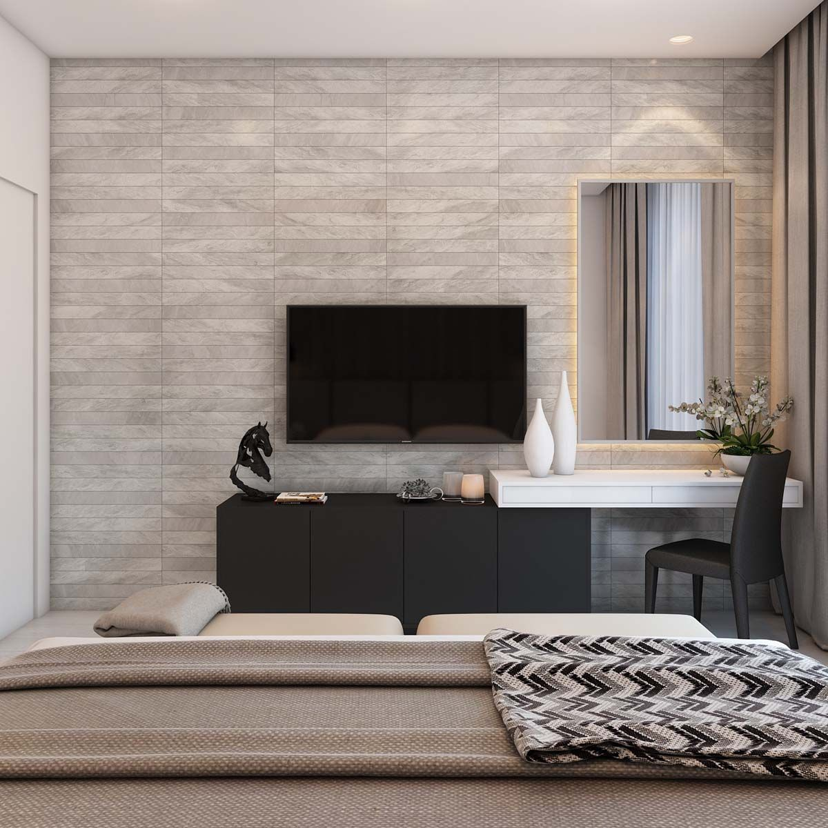 A Simple Modern Apartment In Moscow Apartment Interior Japandi Interior Design Modern Apartment New modern apartment bedroom