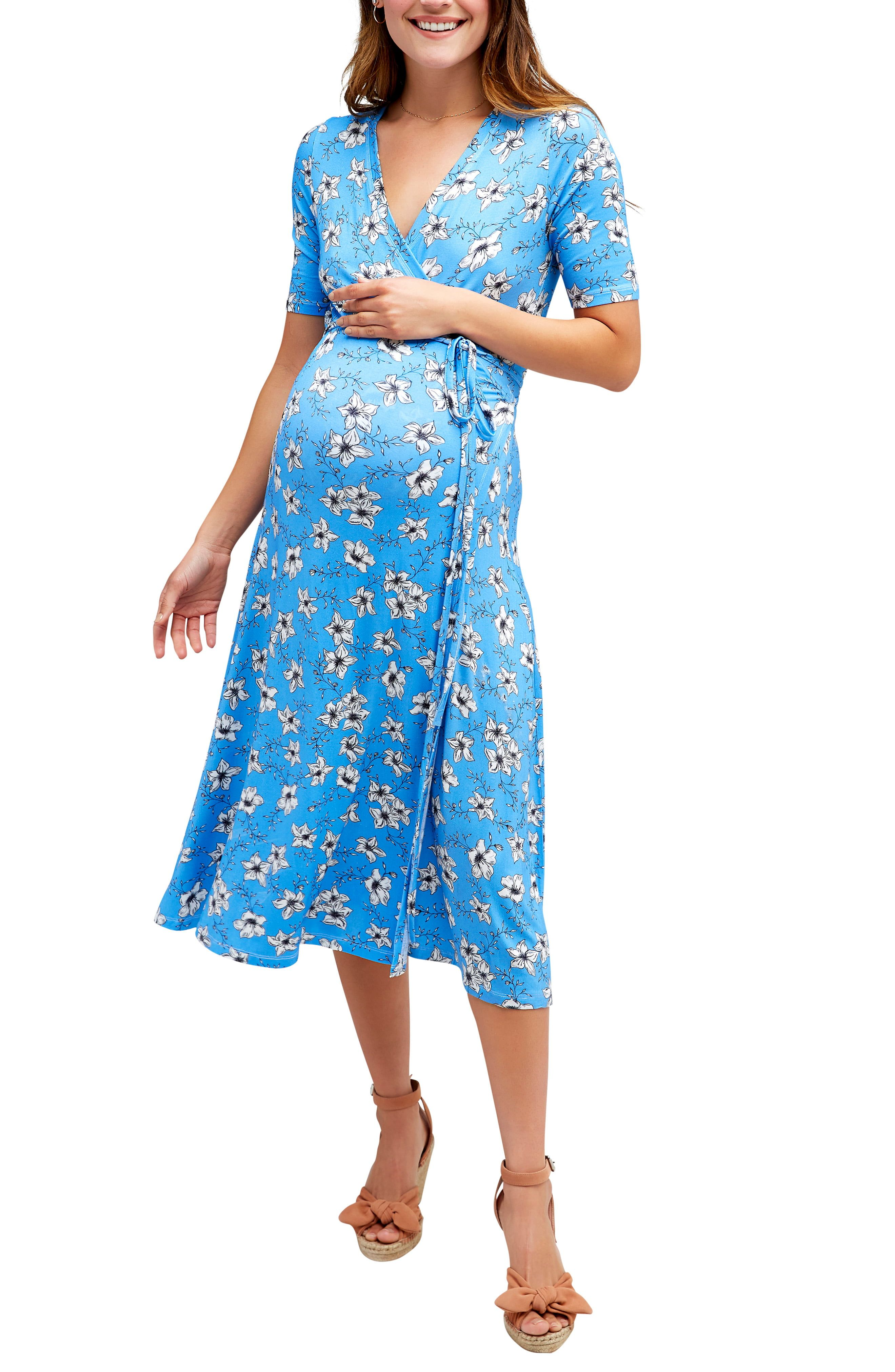Nom Maternity Maya Maternity Nursing Wrap Dress Nordstrom Fashion Clothes Women Maternity Sundress Elegant Midi Dresses [ 4048 x 2640 Pixel ]