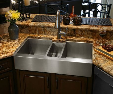 Custom Made Custom Stainless Steel Triple Bowl Sink Stainless