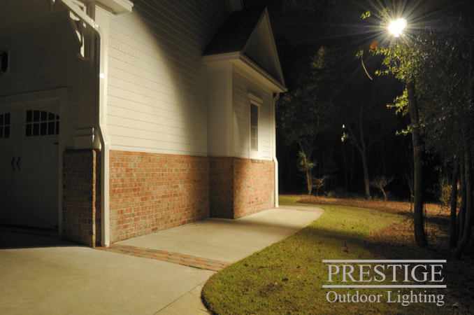 outdoor lighting can illuminate large areas deterring any unwanted