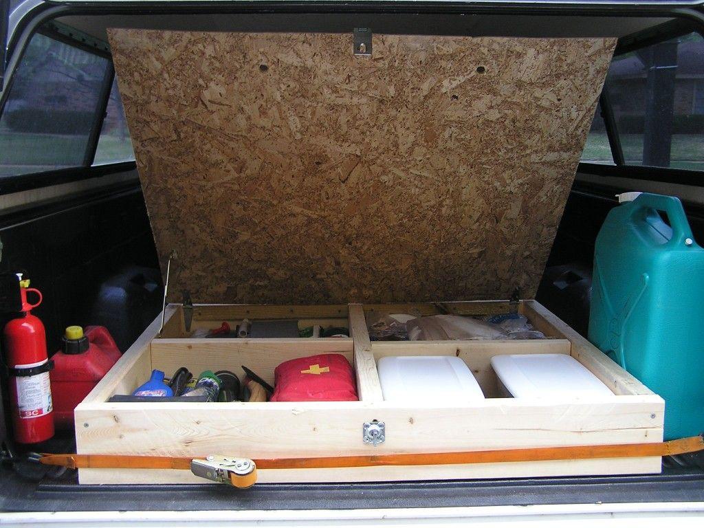 Homemade Camping Truck Bed Storage And Sleeping Platform Walmart Camping,  Jeep Camping, Pickup Bed