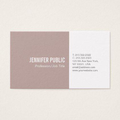 Simple plain elegant colors modern professional business card simple plain elegant colors modern professional business card sleek personalize diy customize cyo reheart Gallery
