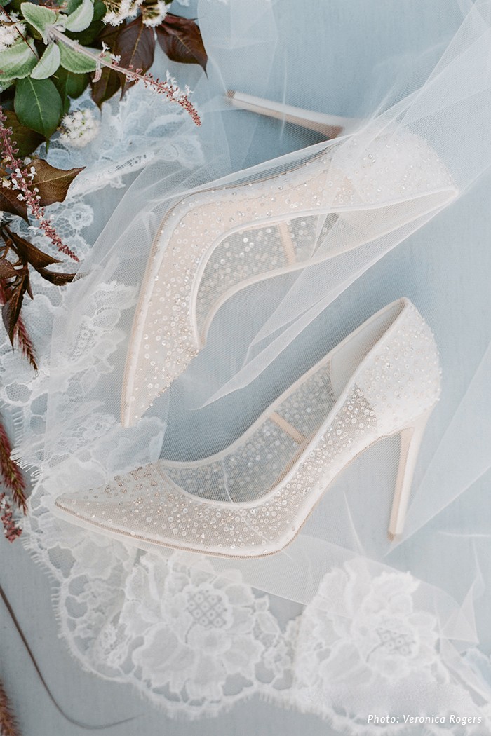 white crystal wedding shoes