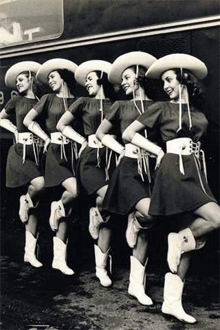 """Retro"" Kilgore College Rangerettes - they probably looked like this when I graduated from there in 1964."