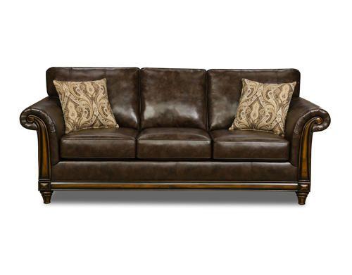 Riverside Wood Trim Sofa At Menards