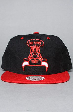 The Chicago Bulls Upsidedown Snapback Hat in Black  7aacabcf1427