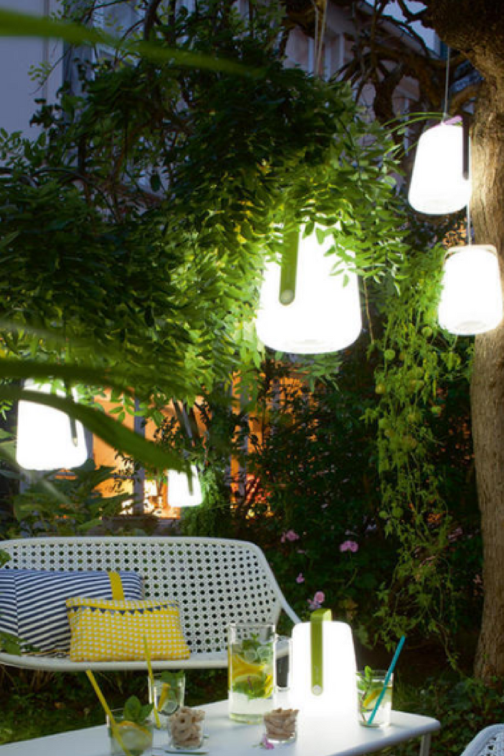 Fermob LED Garden Lights | Rechargeable Outdoor Lanterns | Hanging Lanterns For  The Garden | Decorative Outdoor Lighting