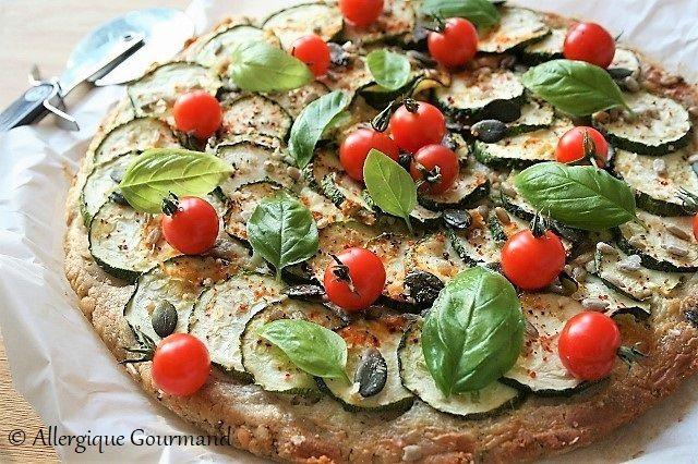 Pizza courgettes { sans gluten, sans œufs possible sans ...