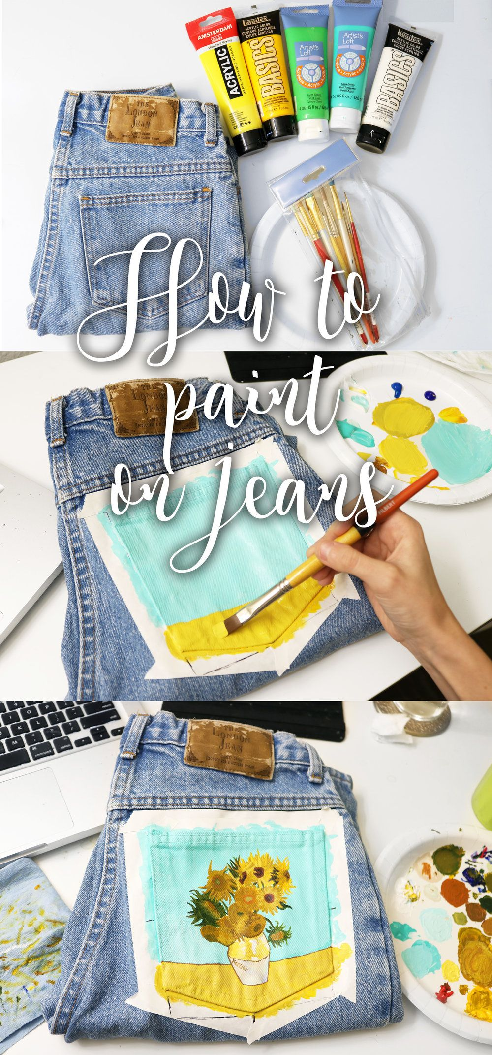 How to paint on jeans 5 steps with pictures painted
