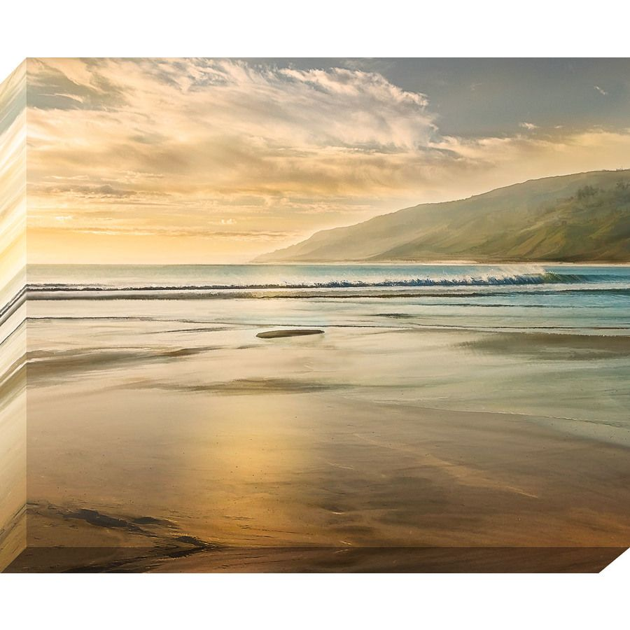 37-in W x 30-in H Frameless Canvas Coastal Print Wall Art | Living ...