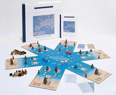 Supply Chain Game Fun Version  A board game where you as a team of friends or as a family discover principles of logistics in a fascinating way     Supply Chain Game fun version  Involvation has developed a fascinating logistics board game. Along with 2 to 6 team or family members you take up the challenge.