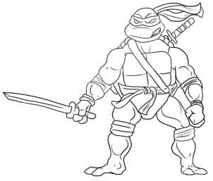 How To Draw Leonardo From Teenage Mutant Ninja Turtles Step 5 Turtle Coloring Pages Ninja Turtle Coloring Pages Ninja Turtles