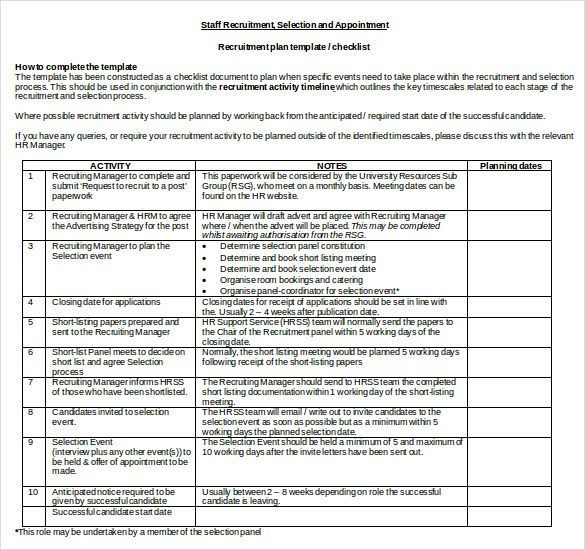 15+ Recruitment Strategy Templates \u2013 Free Sample, Example, Format - Event Plan Template