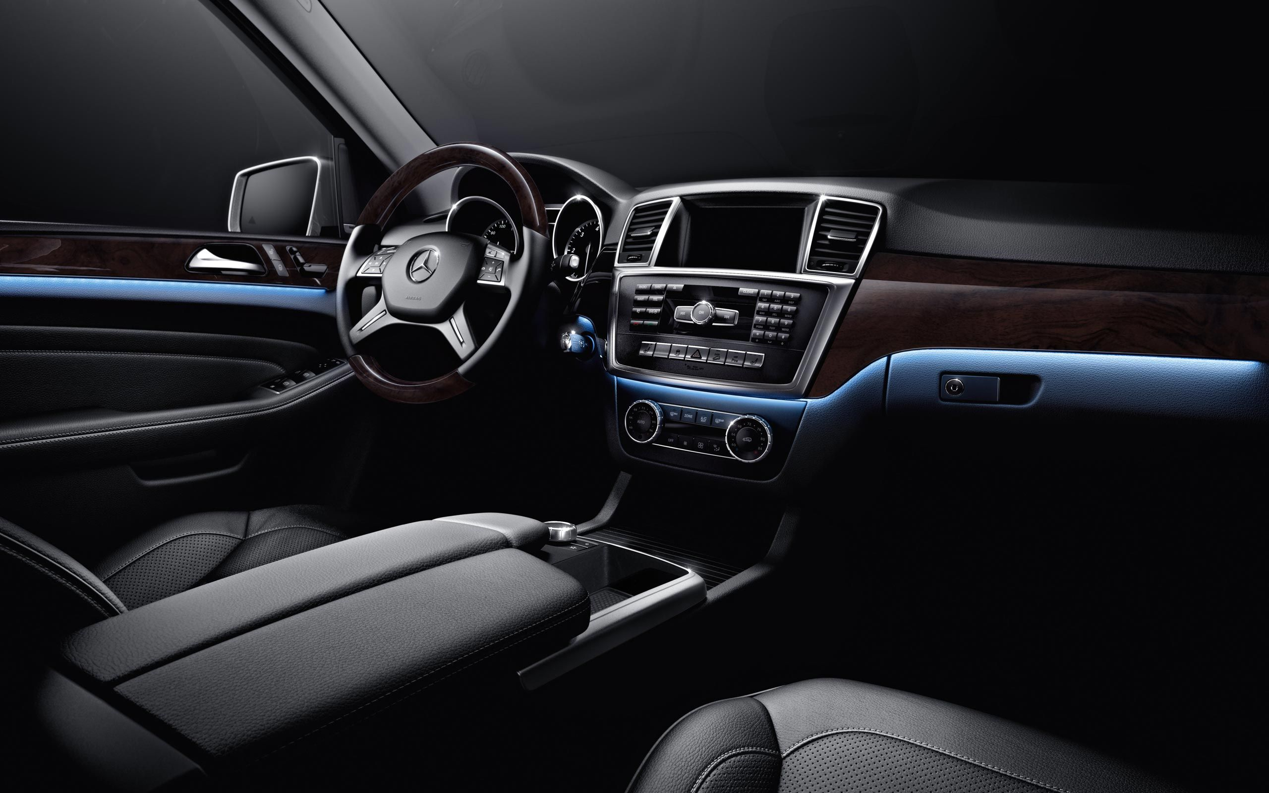 Mercedes Benz Ml350 With Available Multicolor Ambient Lighting Shown In Polar M Class