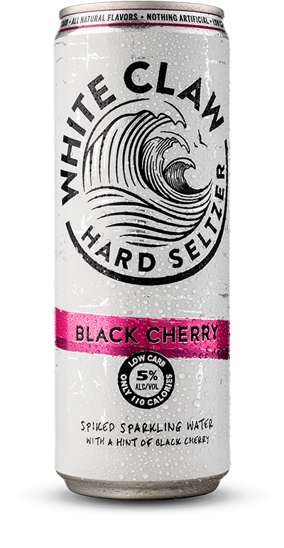 Picture Of Can Of White Claw Hard Seltzer Black Cherry Flavor White Claw Hard Seltzer Hard Seltzer Gluten Free Alcohol