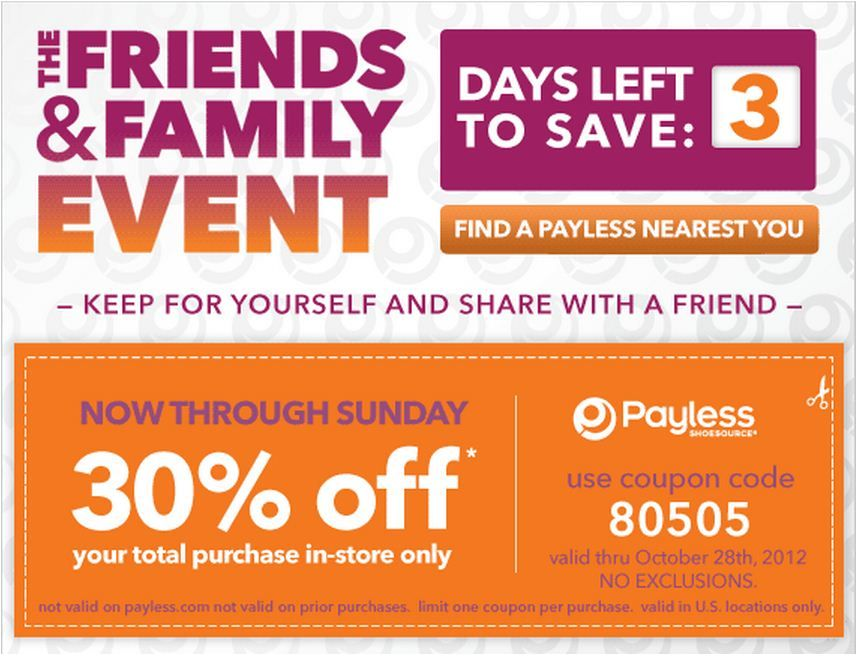 payless shoes 30 off printable coupon