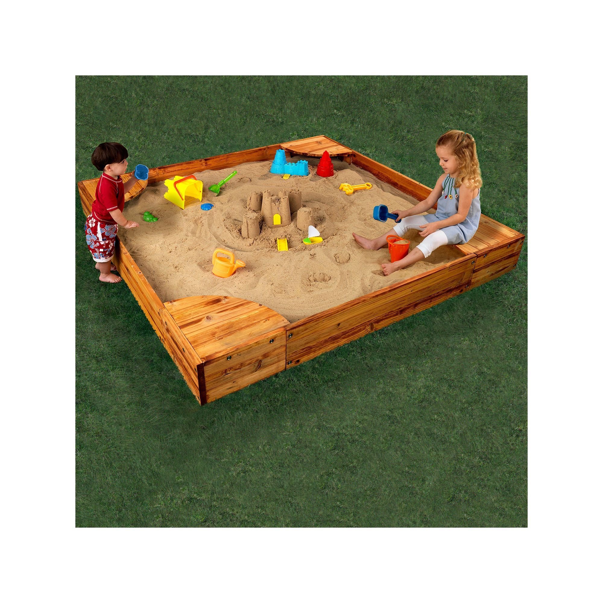 Kidkraft Backyard Sandbox kidkraft backyard sandbox, multicolor | products | pinterest