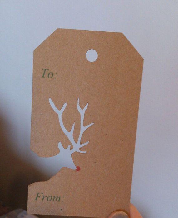 Cutout Reindeer/Christmas tree kraft Christmas by dustandthings, £1.90