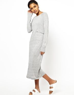 Image 1 ofBACK by Ann-Sofie Back Long Sleeve Dress with Zip Detail