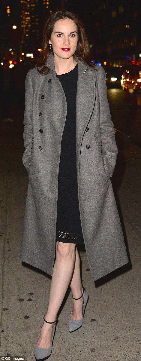 Michelle Dockery attends funeral of her fiance John Dineen