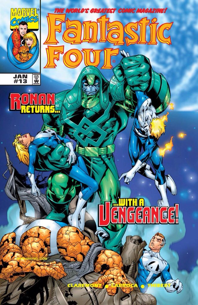 Ronan The Accuser vs the Fantastic Four (1999 - Fantastic Four #13)