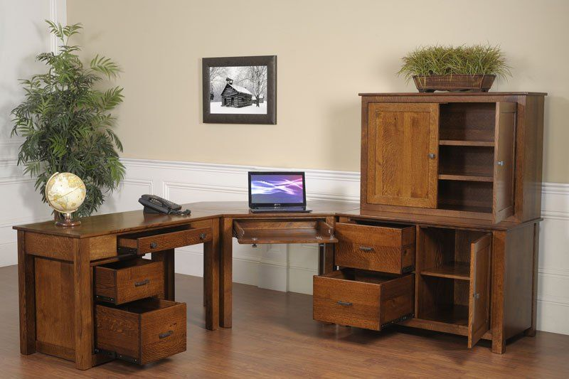 Corner Desks For Home Office Antique White Mission Modular