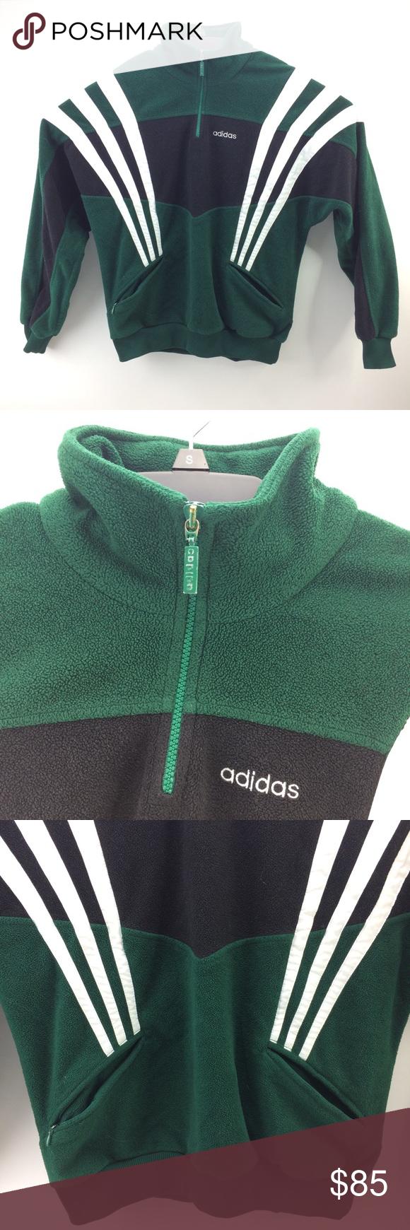 adidas 1/4 zip fleece pullover