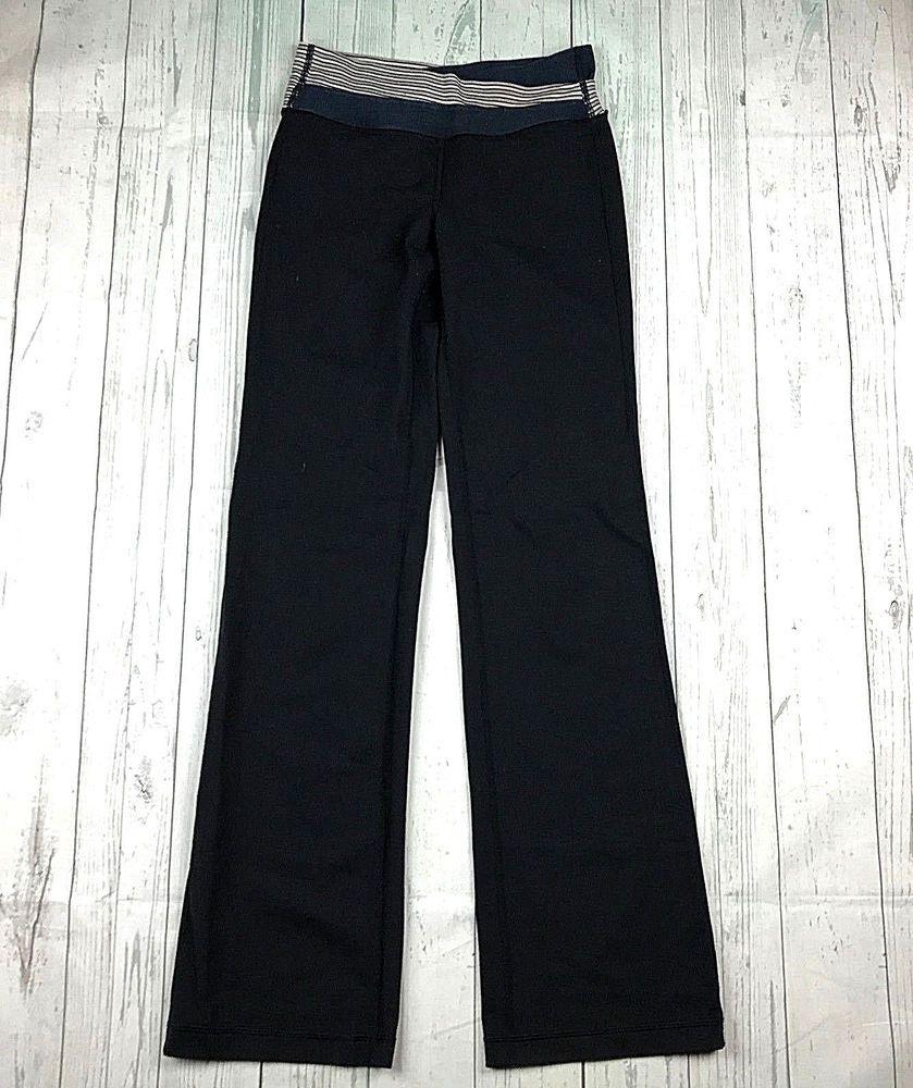 07e24c16e8 Lululemon Athletica Astro womens 4 black blue gray waistband yoga workout  pants #lululemon #ActivewearPants