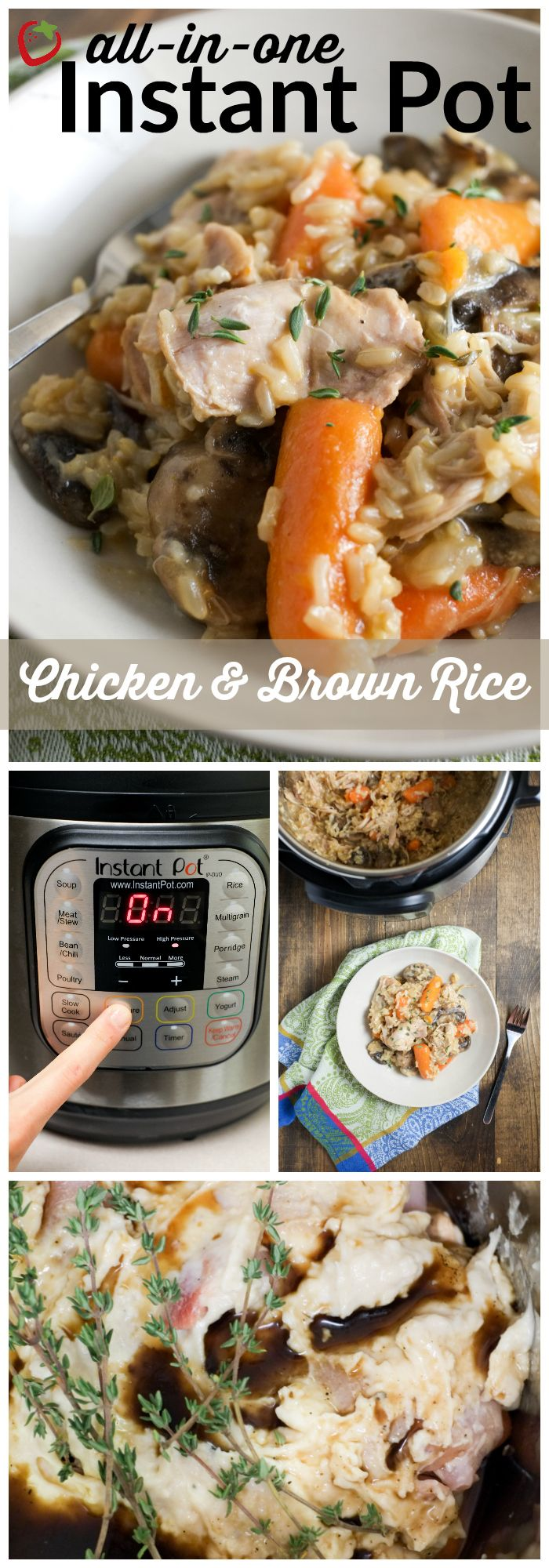 All In One Instant Pot Chicken And Brown Rice Recipe