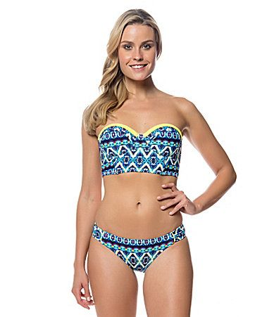 46a9205da38 Jessica Simpson Strappy Back Underwire Midkini Swim Top and Hipster Bottom   Dillards