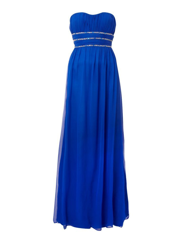 Js collections strapless dress blue hues pinterest