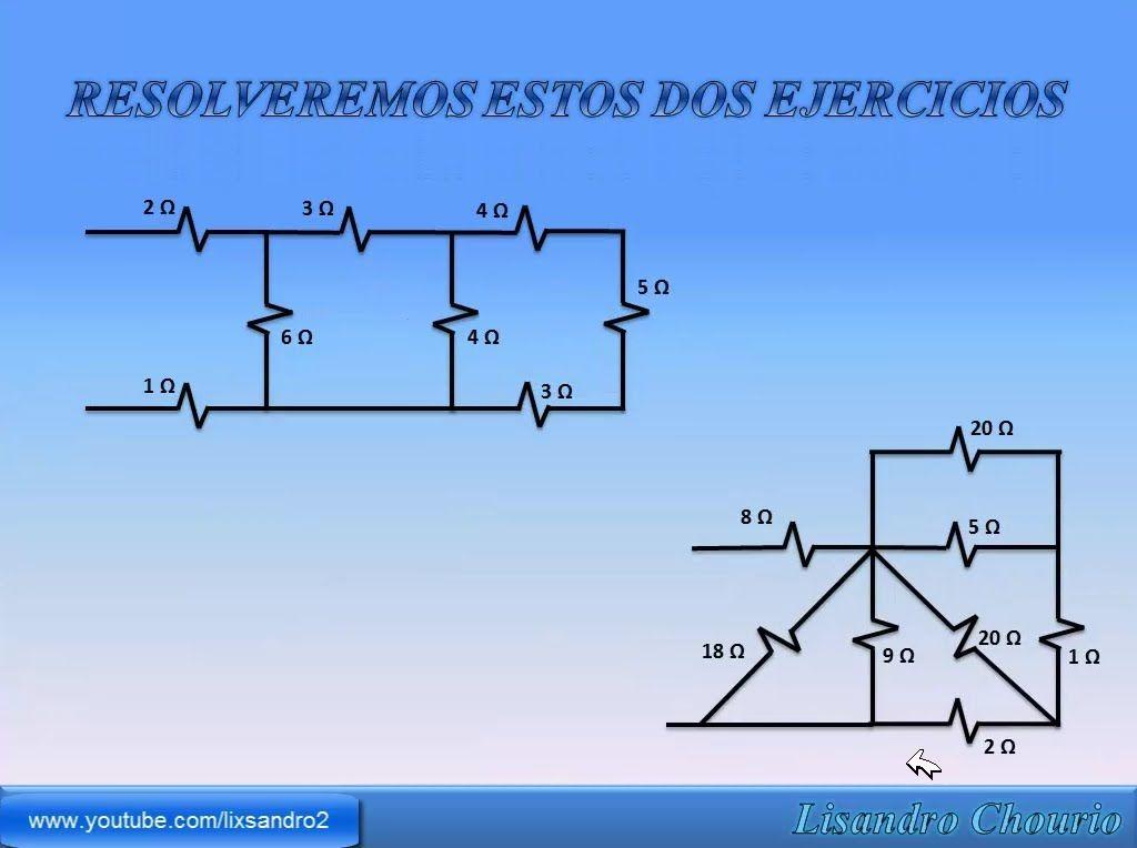 Como Resolver Circuitos Series Y Paralelo De Resistencias Circuitos Proyectos Electronicos Esquemas Electricos