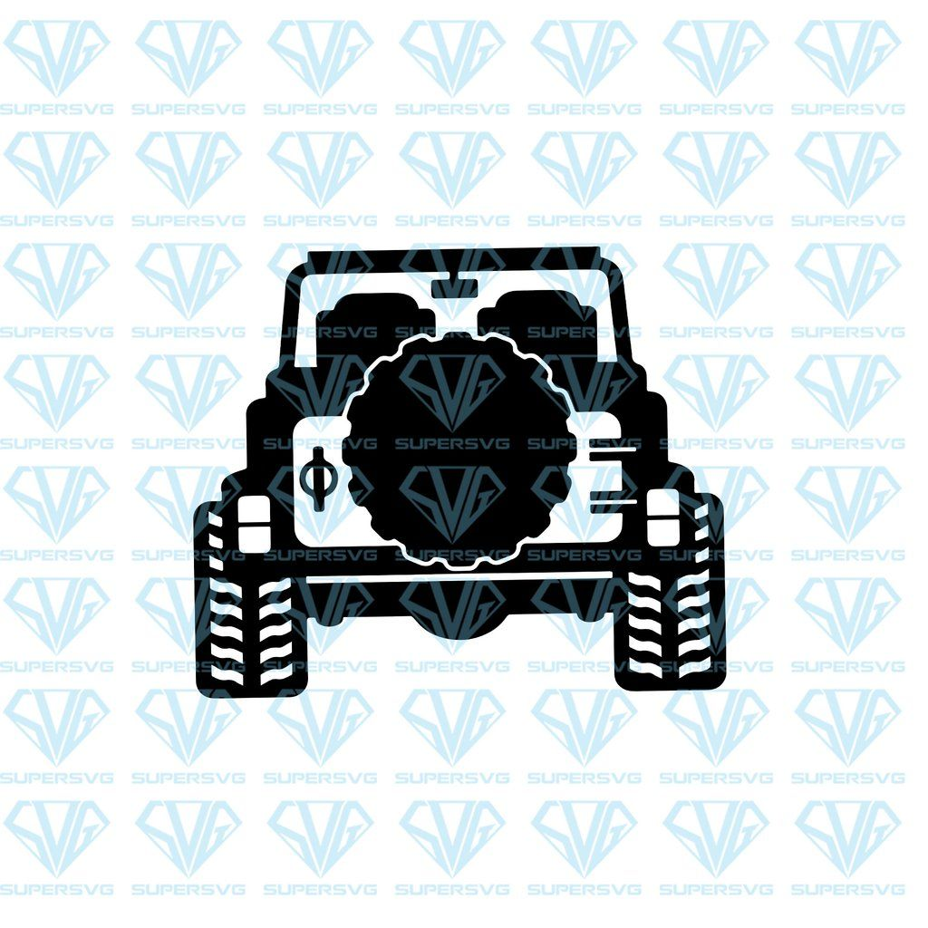 Jeep SVG 2 Jeep 4x4, Back View, Wrangler, Off Road, SVG