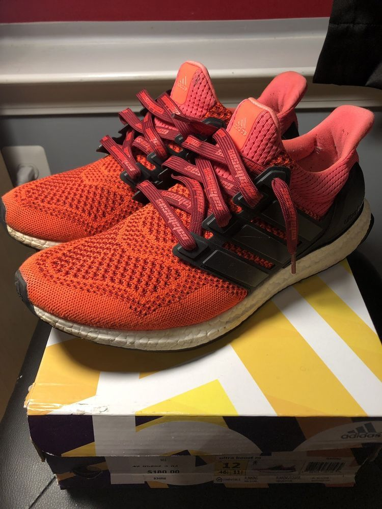 5509af17c07 Adidas Ultra Boost 1.0 Solar Red Size 12 Mens Worn With Box  fashion   clothing  shoes  accessories  mensshoes  athleticshoes (ebay link)