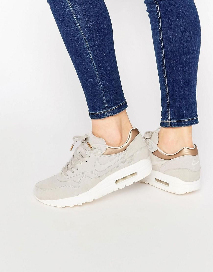 S H O E S | Nike air max, Gold trainers