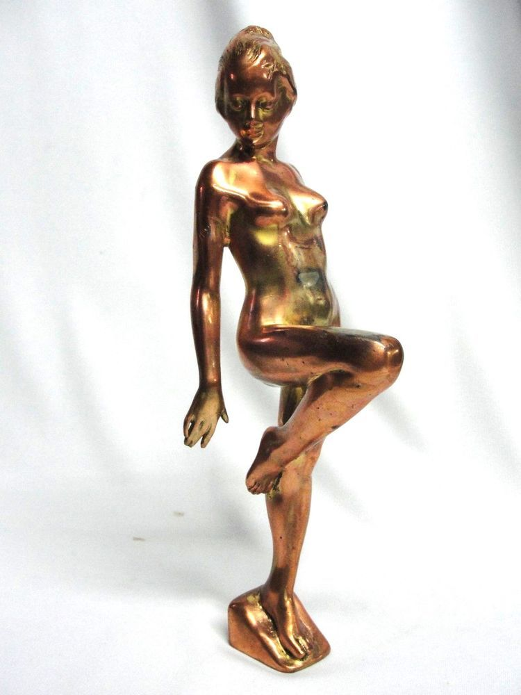 Brass Nude Sculpture - The Antique And Artisan Gallery Online