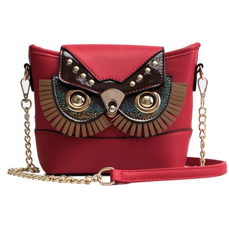 New Cute Owl Shoulder Bag Purse Handbags Chain Women Messenger Bags For Girls  Cartoon With Small Crossbody Phone Bag Owl Mens Leather Bags Laptop  Messenger ... b2585fe39d