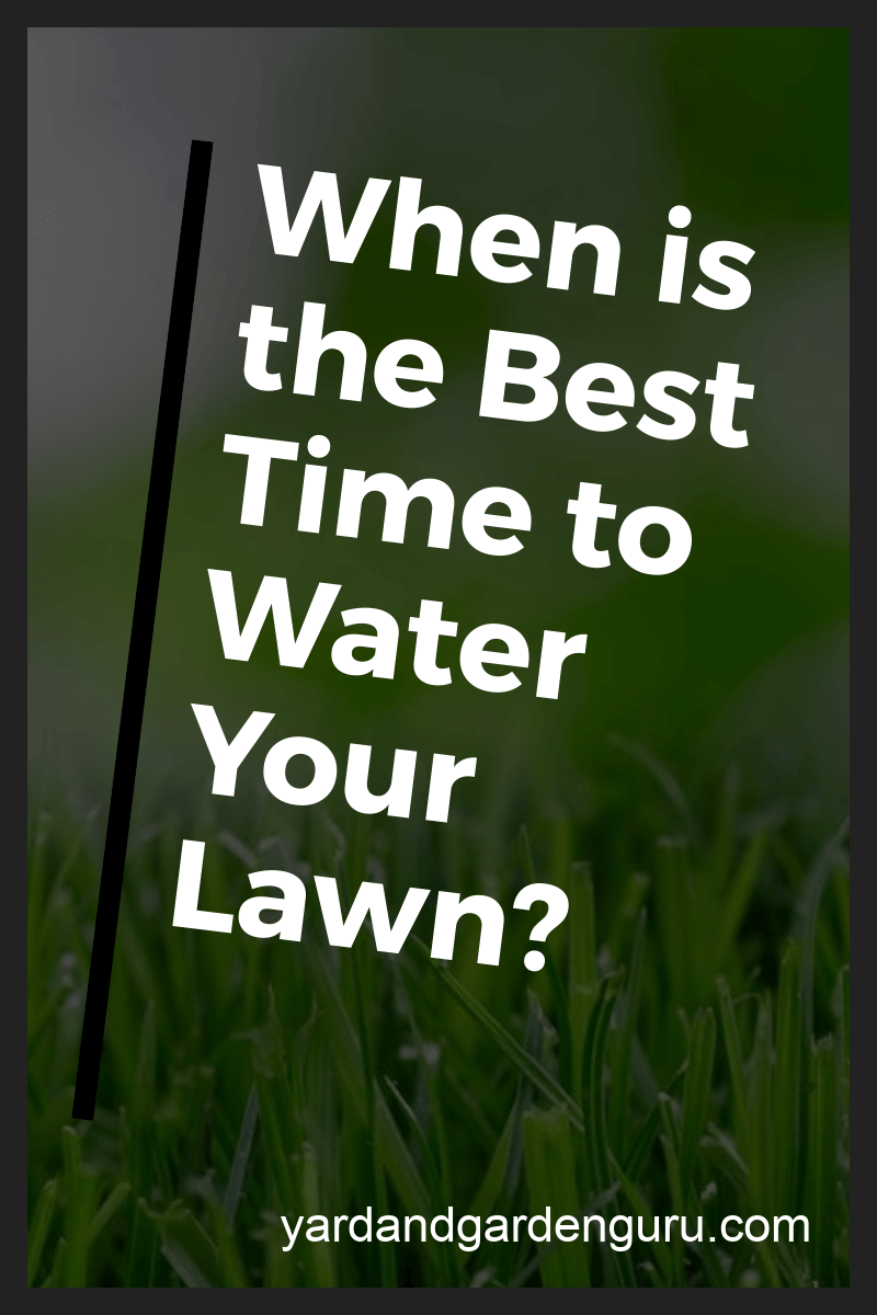 How Long Should I Water The Lawn Lawn Watering Schedule Watering Grass Lawn Fertilizer Watering Lawn