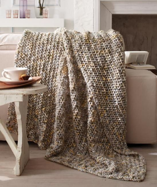 decke gestrickt dicke wolle schachenmayr crochet. Black Bedroom Furniture Sets. Home Design Ideas