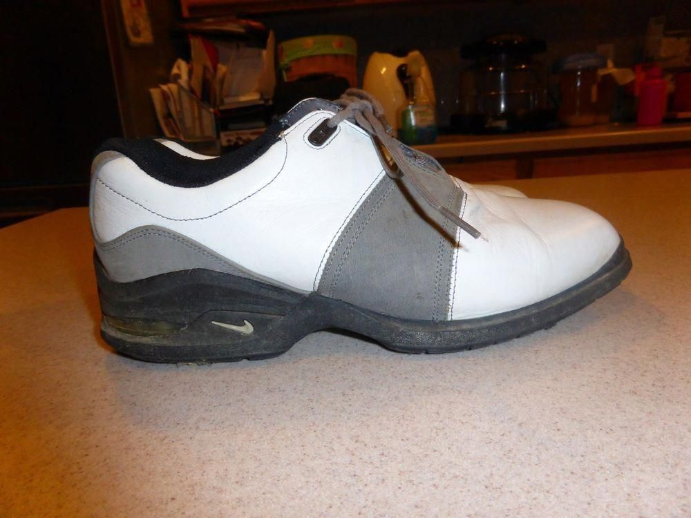 5cad0ce74 Nike Tiger Woods Golf Shoes White Leather sz 7.5D  Nike  mensnikegolfshoes