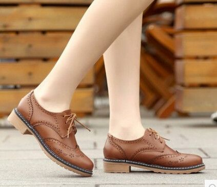 5a329823129 Spring punk women s single shoes lacing women s carved fashion low-heeled  shoes round toe fashion single shoes