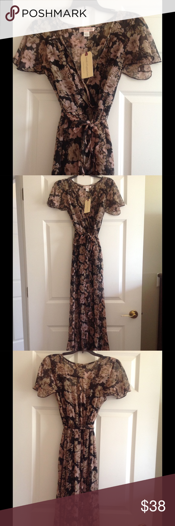 Band of gypsies maxi Flutter sleeve dress Band of Gypsies