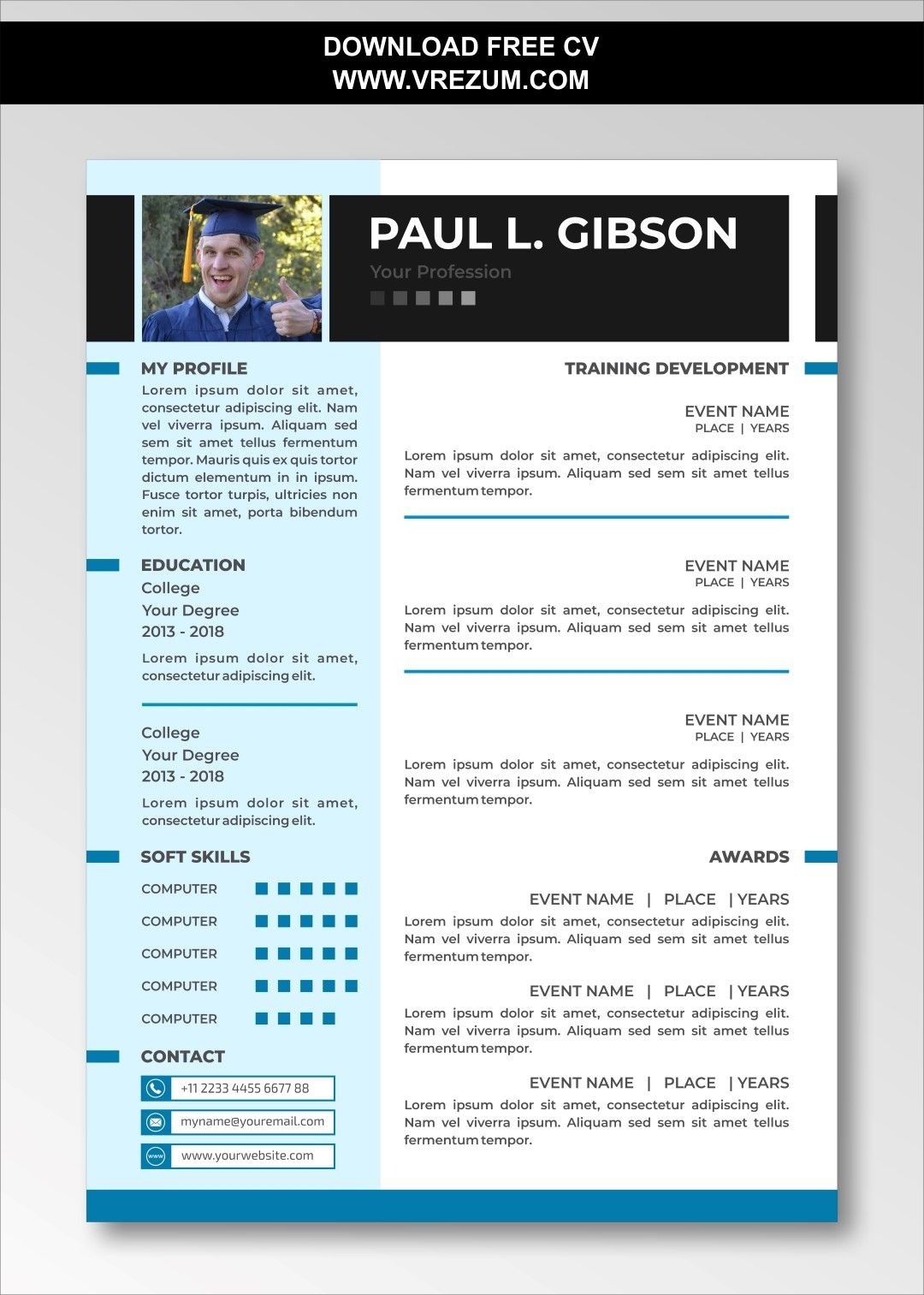 Editable Free Cv Templates For Graduate School Cv Template Free Cv Template Resume Template Free