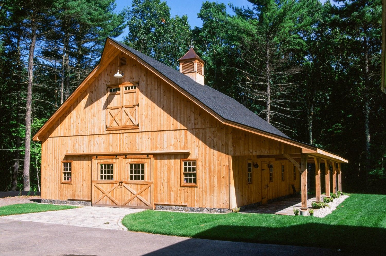 36 X 48 Saratoga Post And Beam Barn Stow Ma Post And