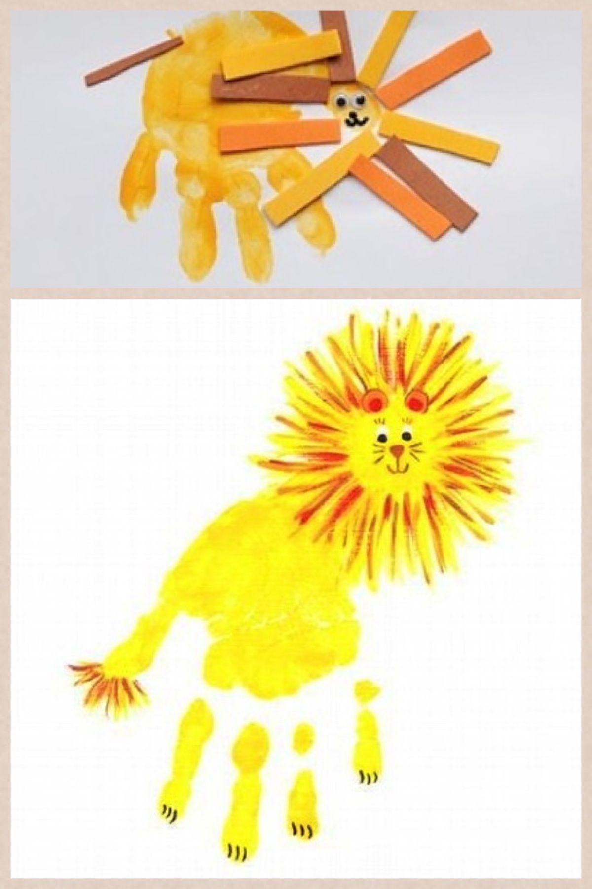 Handprint Lion >> Larry Lion Handprint Craft Ll Crafts To Do With Kids Crafts