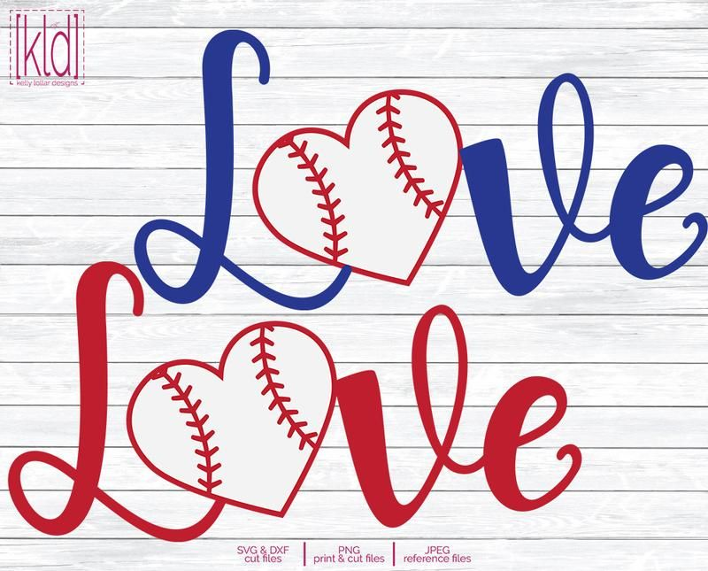 Download Baseball or Softball Love svg files by Kelly Lollar ...